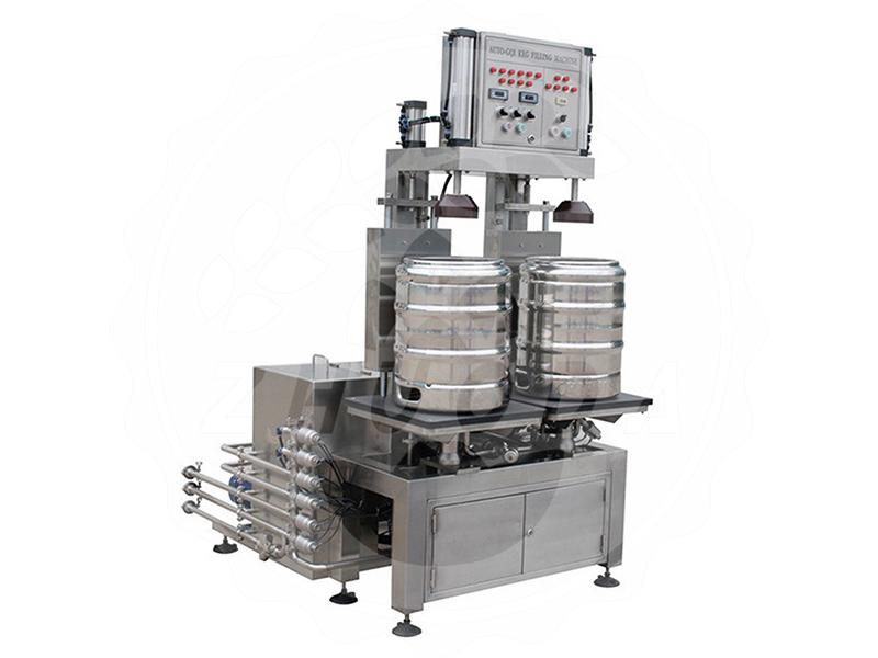 Double Heads Automatic Keg Filling Machine Jinan Zhuoda